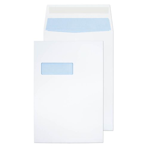 ValueX Pocket Gusset Envelope C4 Peel and Seal Window 25mm Gusset 140gsm White (Pack 125)