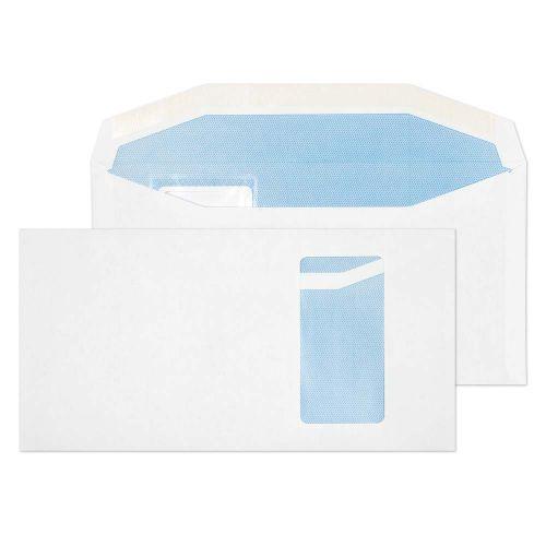 Blake Purely Everyday White Window Gummed Mailer 121X235mm 90Gm2 Pack 1000 Code 9114Pw 3P