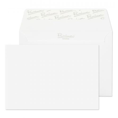 Blake Premium Business Wallet Envelope C6 Peel and Seal Plain 120gsm Diamond White Laid (Pack 50)