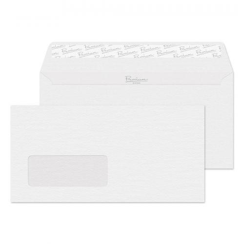 Blake Premium Business Diamond White Laid Window Peel & Seal Wallet 110X220 120G Pk500 Code 91884 3P