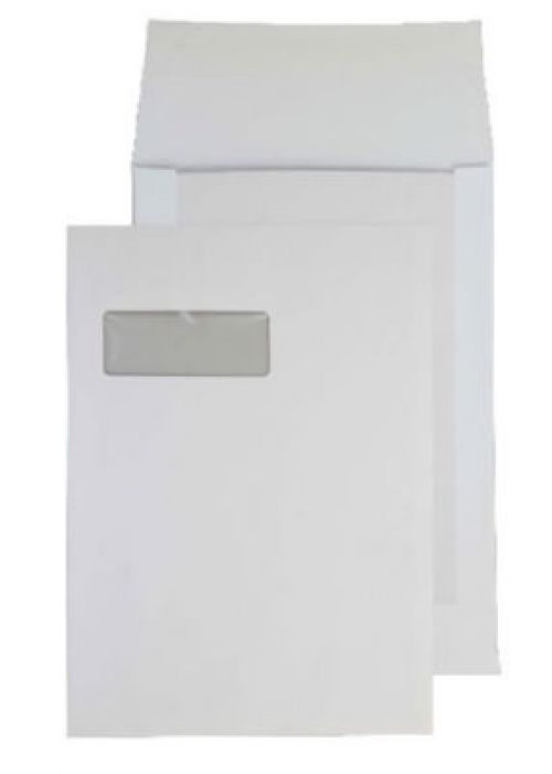 Blake Purely Packaging White Window P&S Board Back  Gusset 324X229X25 120G Pk125 Code 92901W 3P