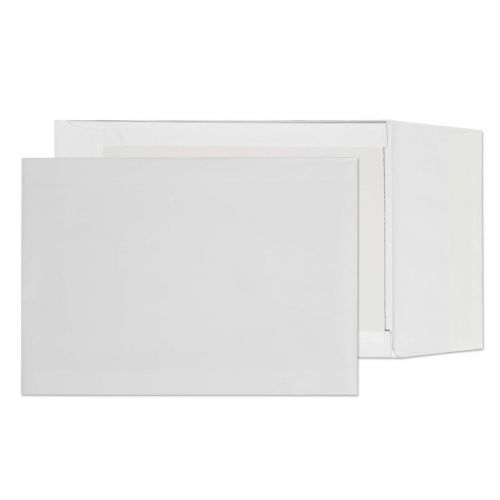 Blake Purely Packaging White Peel & Seal Board Back Gusset 324X229X50mm 120G Pk125 Code 92935 3P