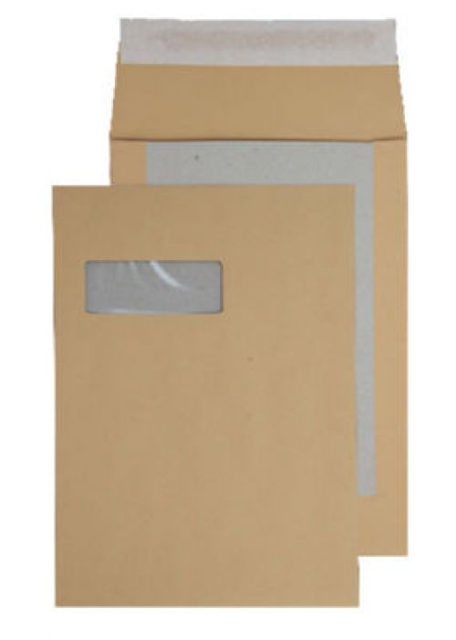 Blake Purely Packaging Manilla Window P&S Board Back Gusset 324X229X25 120G Pk125 Code 93901Mw 3P