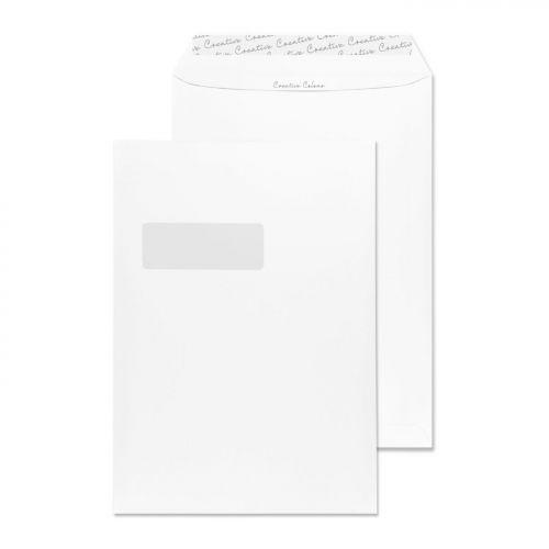 Blake Creative Colour Milk White Window Peel & Sea l Pocket 324X229mm 120Gm2 Pack 250 Code 951W 3P