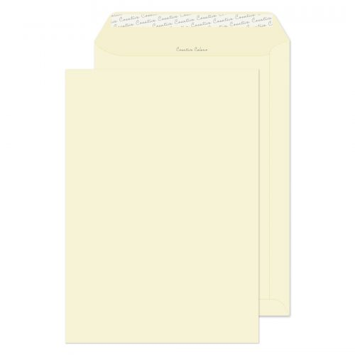Blake Creative Colour Soft Ivory Peel & Seal Pocket 324X229mm 120Gm2 Pack 250 Code 952 3P