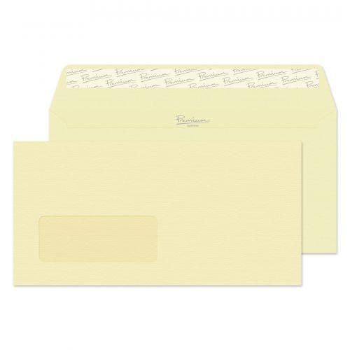 Blake Premium Business Vellum Laid Window Peel & Seal Wallet 110X220mm 120Gm2 Pack 500 Code 95884 3P