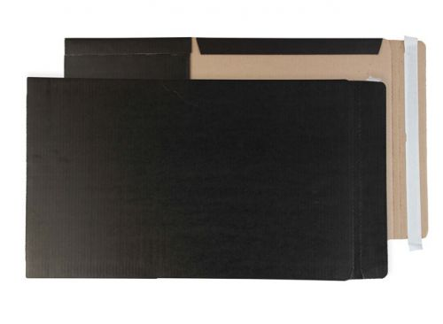 Purely Packaging Black Book Wraps Book Wrap P&S 475x650x50mm Ref BWA2+ [Pack 20] *10 Day Leadtime*