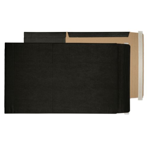 Purely Packaging Black Book Wraps Book Wrap P&S 475x350x50mm Ref BWA3+ [Pack 20] *10 Day Leadtime*