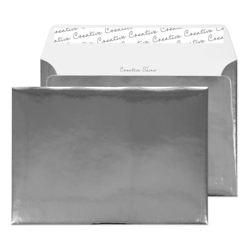 Creative Shine Wallet P&S Chrome Plated 140gsm C5 162x229mm Ref EF391 [Pack 100] *10 Day Leadtime*
