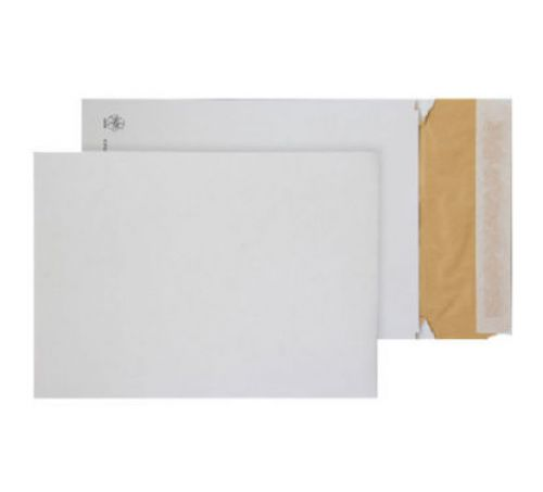 Blake Purely Packaging Padded Gusset Eco Cushion Envelope C4 Peel and Seal 50mm Gusset 140gsm White (Pack 100)