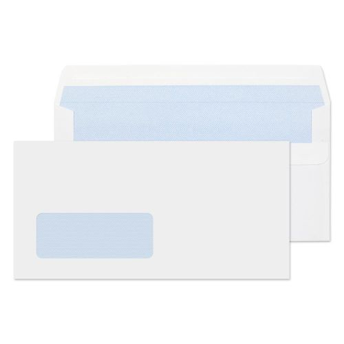 Value Wallet S/S Window DL 110x220mm 80gsm White PK1000