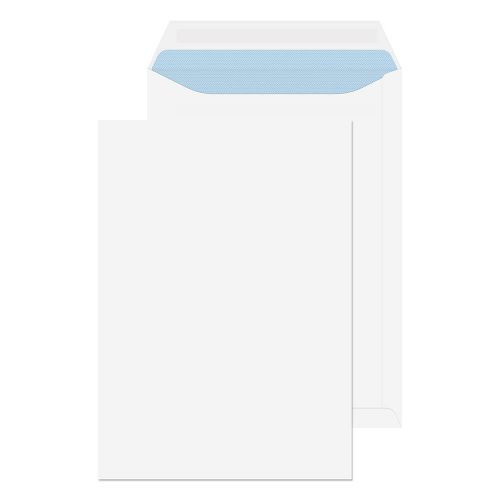 ValueX Pocket Envelope C4 Self Seal Plain 90gsm White (Pack 250)