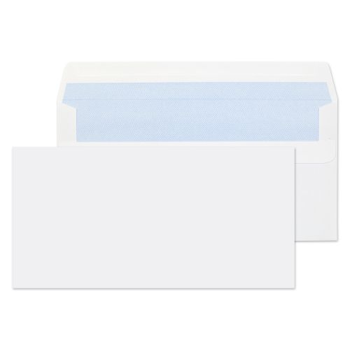 ValueX Wallet Envelope DL Self Seal Plain 90gsm White (Pack 1000)