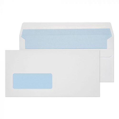 ValueX Wallet Self Seal Window Envelope DL 110x220mm 90gsm White (Pack 1000)