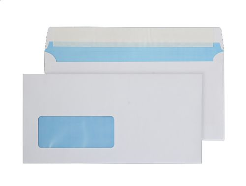 Purely Everyday Wallet P&S Low Window White 110gsm DL 110x220mm Ref FSC067 Pk 500 *10 Day Leadtime*