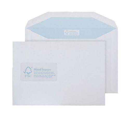 Blake Purely Environmental White Window Gummed Mailer 162x238mm 90gsm Pack 500 Code FSC478