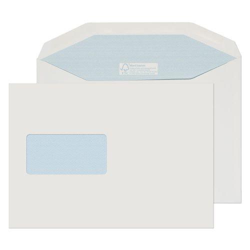 Blake Purely Environmental White Window Gummed Mailer 162X229mm 130Gm2 Pack 500 Code Fsc809 3P