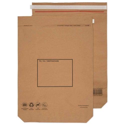 Blake Purely Packaging Mailing Bag 600x480mm Peel and Seal 110gsm Kraft Natural Brown (Pack 50)