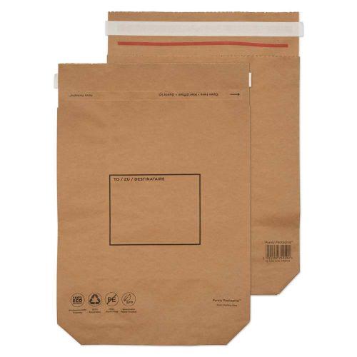 Kraft Bags 420x340x80mm Pk20