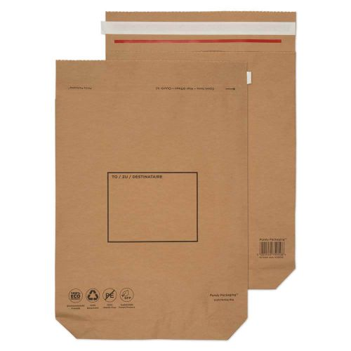 Purely Packaging Brown P&S Kraft Bag 480x380mm PK100