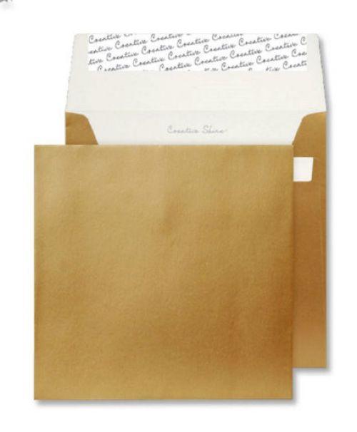 Blake Creative Shine Metallic Gold Peel & Seal Square Wallet 160X160mm 130Gm2 Pack 500 Code M613 3P
