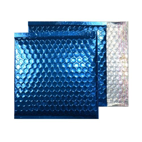 Purely Packaging Envelope P&S 165x165mm Padded Met Blue Ref MBBLU165 [Pack 100] *10 Day Leadtime*