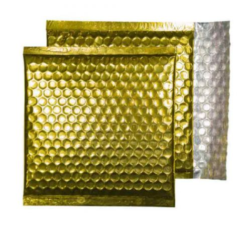 Purely Packaging Envelope P&S 165x165mm Padded Met Gold Ref MBGOL165 [Pack 100] *10 Day Leadtime*