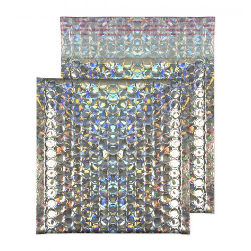 Blake Purely Packaging Holographic Peel & Seal Square Wallet 165X165mm 70Mu Pk100 Code Mbhra165 3P