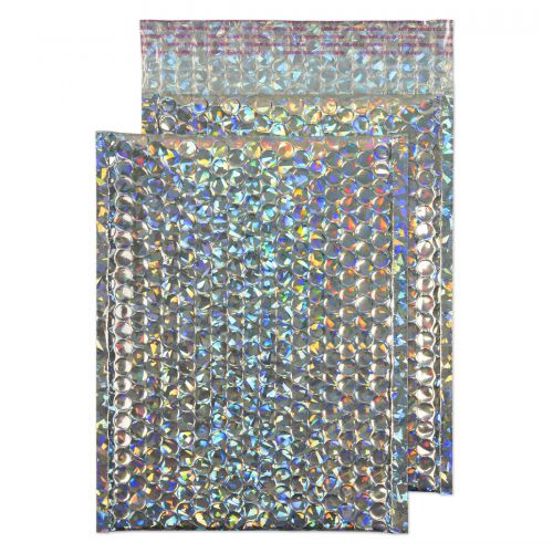 Blake Purely Packaging Holographic Peel & Seal Pocket 250X180mm 70Mu Pack 100 Code Mbhra250 3P