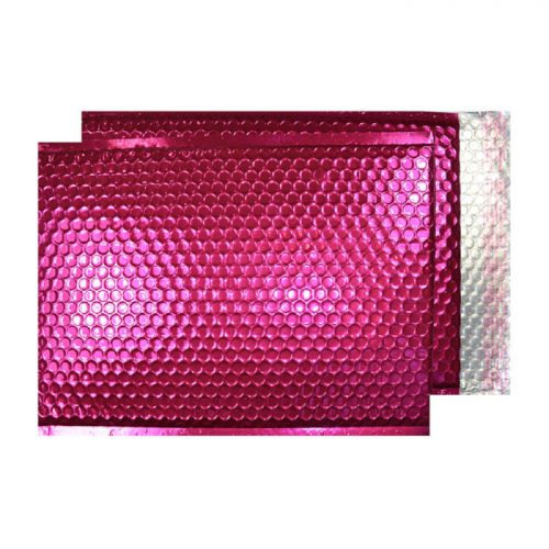 Purely Packaging Bubble Envelope P&S C3 Metallic Bright Pink Ref MBP450 [Pack 50] *10 Day Leadtime*