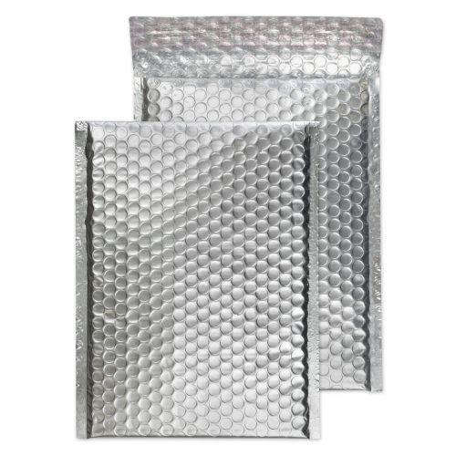 Blake Purely Packaging Metallic Silver P&S Padded Bubble Pocket 250X180 70Mu Pk100 Code Mta250 3P