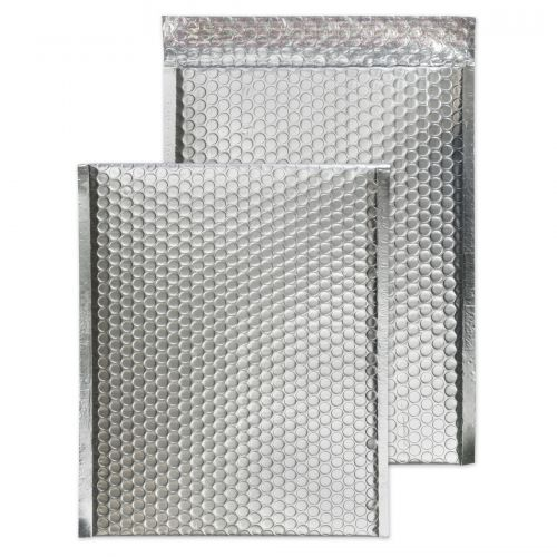 Blake Purely Packaging Metallic Silver P&S Padded Bubble Pocket 324X229 70Mu Pk100 Code Mta324 3P
