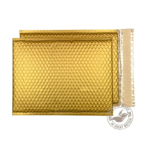 Purely Packaging Bubble Envelope P&S C4 Metallic Gold Ref MTGOL324 [Pk 100] *10 Day Leadtime*