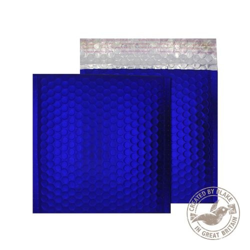 Purely Packaging Bubble Envelope P&S CD Metallic NeonBlue Ref MTNB165 [Pk 100] *10 Day Leadtime*