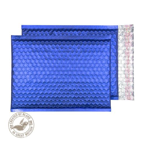 Purely Packaging Bubble Envelope P&S C5+ Metallic NeonBlue Ref MTNB250 [Pk 100] *10 Day Leadtime*