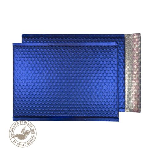 Purely Packaging Bubble Envelope P&S C4 Metallic NeonBlue Ref MTNB324 [Pk 100] *10 Day Leadtime*