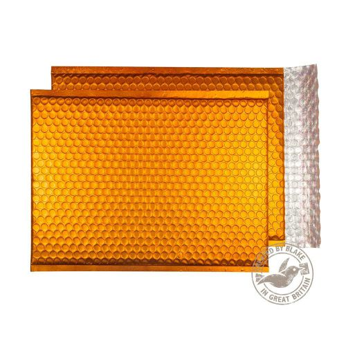 Purely Packaging Bubble Envelope P&S C4 Matt Metallic Orange Ref MTO324 [Pk 100] *10 Day Leadtime*