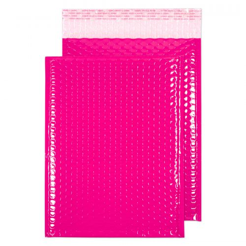Blake Purely Packaging Pink Neon Gloss Peel & Seal  Pocket 340X240mm 70Mu Pack 100 Code Ngp340 3P