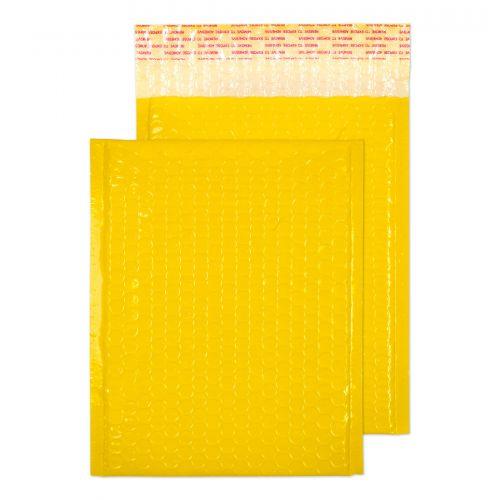 Blake Purely Packaging Yellow Neon Gloss Peel & Seal Pocket 250X180mm 70Mu Pack 100 Code Ngy250 3P