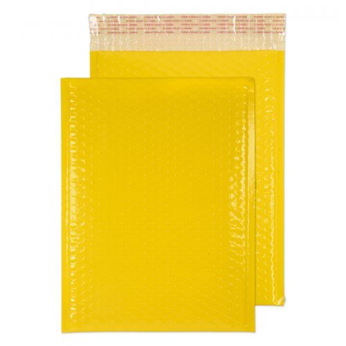 Blake Purely Packaging Yellow Neon Gloss Peel & Seal Pocket 340X240mm 70Mu Pack 100 Code Ngy340 3P