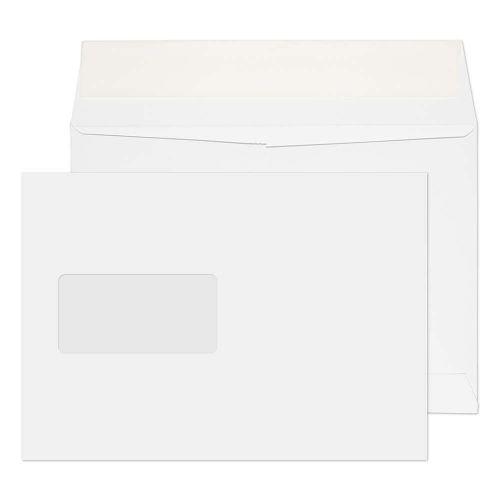 Blake Purely Packaging Ultra White Card Window Peel & Seal Card Wallet 162x229mm 210gsm Pack 250 Code OP55