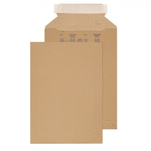 Blake Purely Packaging Corrugated Pocket P&S 280x200mm Kraft Ref PCE19 [Pk100] *10 Day Leadtime*