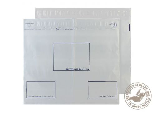 Blake Purely Packaging White Peel & Seal Polythene Wallet 620X440mm 70Mu Pack 100 Code Pe104/W 3P