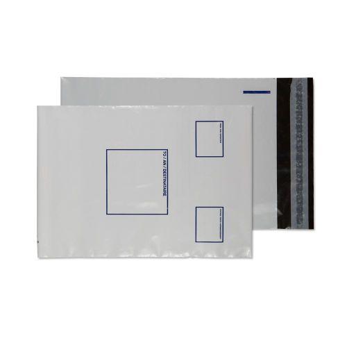 Blake Purely Packaging White / White / Blac Peel & Seal Polythene 165x238mm 65Mu Pack 100 Code PE24/W/100