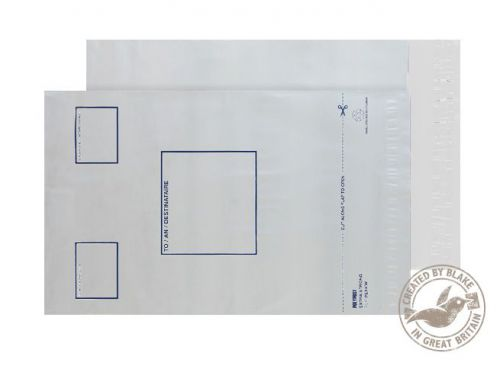 Purely packaging C4 Plus Poly Mailer Address Panel Peel & Seal PK100