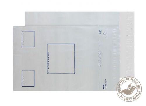 Blake Purely Packaging White Peel & Seal 240X320mm 65Mu Code Pe44/W/5 Pr 3P