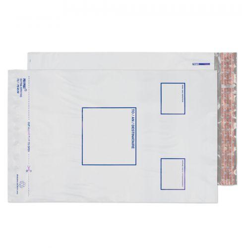 Blake Purely Packaging White Peel & Seal Polythene Pocket 255X350mm 50Mu Pack 1000 Code Pe45/W 3P