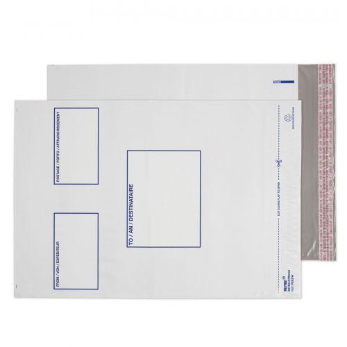 Blake Purely Packaging White Peel & Seal Polythene Pocket 305X405mm 50Mu Pack 1000 Code Pe63/W 3P