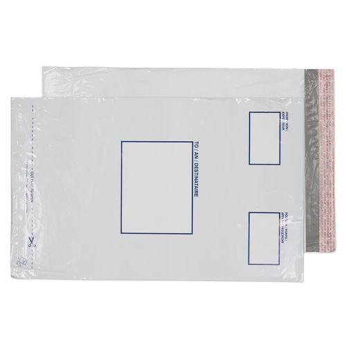 Blake Purely Packaging White Peel And Seal Polythene Pocket 460X330mm 50Mu Pack 50 Code Pe66/50 3P