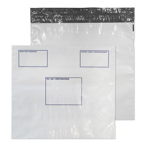 Blake Purely Packaging White Peel & Seal Polythene Wallet 430x460mm 50Mu Pack 100 Code PE84/W/100